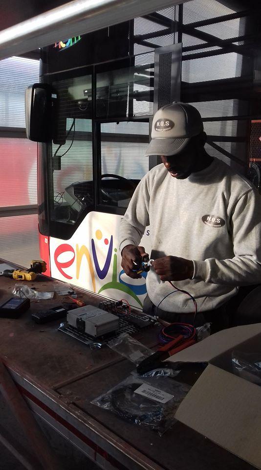 Installation système Radio sur les bus de la compagnie TRANSDEV à Arles (2)