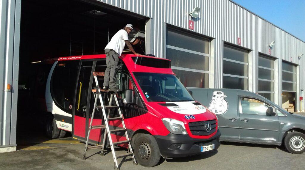 Installation système Radio sur les bus de la compagnie TRANSDEV à Arles (3)
