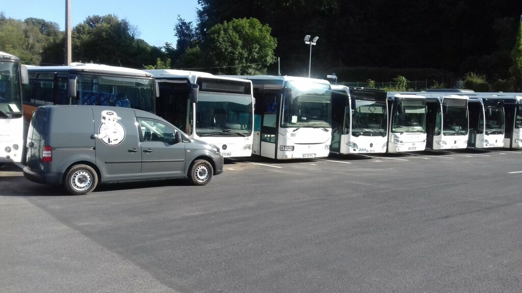 Intervention sur les bus de la comapgnie Kéolis à Fécamp