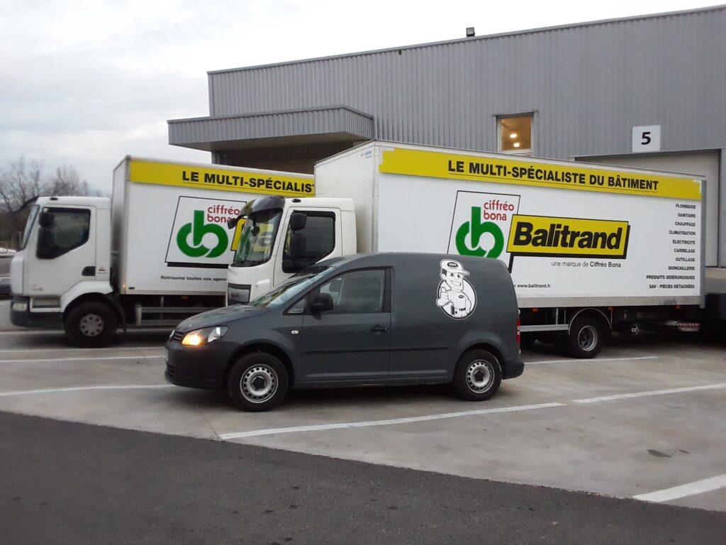 Intervention sur les Tracteurs et les semi-remorques du transporteur Balitrand à Chateauneuf-le-Rouge
