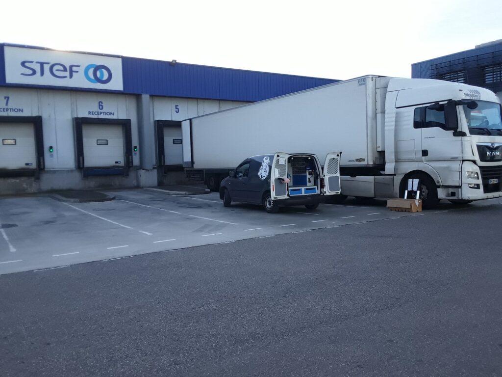 Intervention sur les Tracteurs et les semi-remorques du transporteur STEF à Tarascon